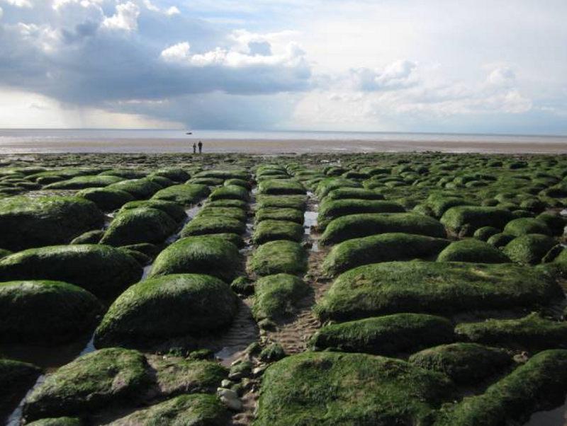 Hunstanton beach rocks lines mystery