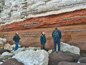 hunstanton cliffs layers norfolk geology