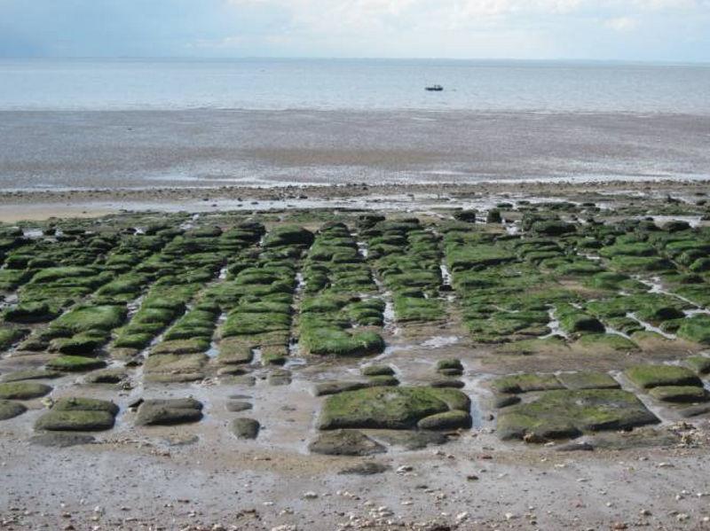 Hunstanton norfolk england geology rocks lines