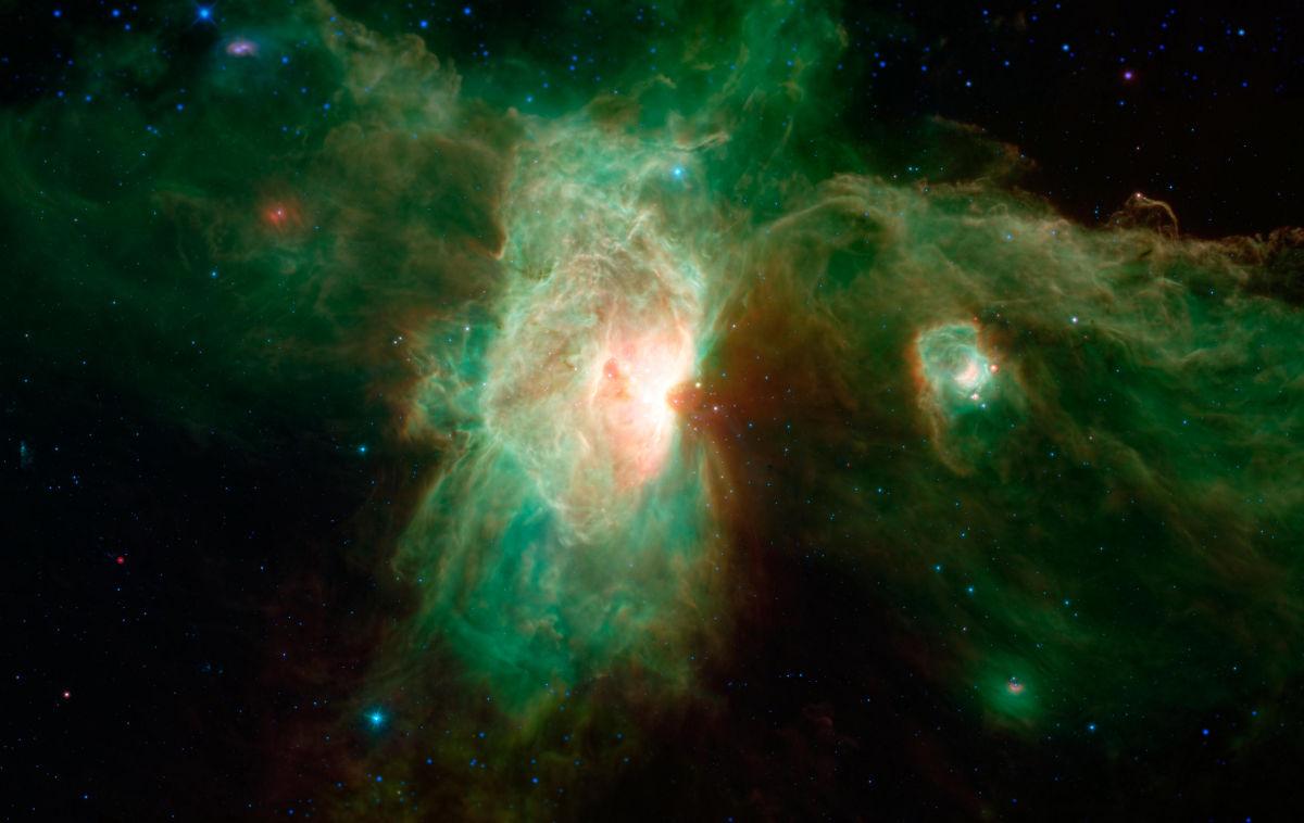 infrared light Orion Molecular Cloud Complex