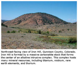 iron hills mountains rare earth elements metals oxides minerals