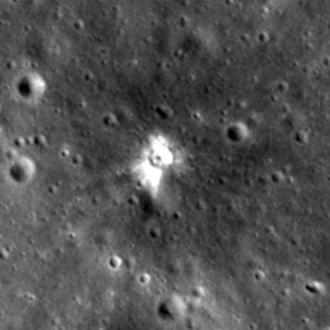 latest new crater moon impact or electric