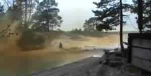 lightning stirke boat river