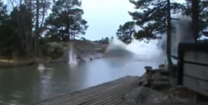 lightning strike river video