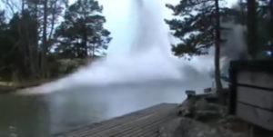 lightning hit river video