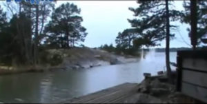 lightning discharge river