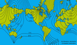 magnetic declination map diagram