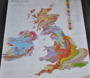 Geological Map of the British Isles 1969 Geological Survey Britain rocks