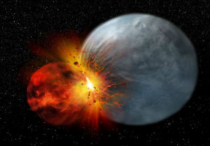 moon formation theories theia theory impact problems
