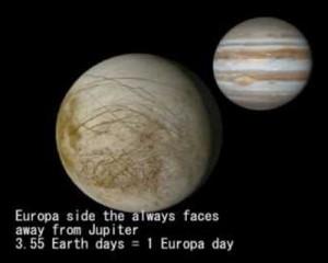 moons tidally locked Euopa Jupiter