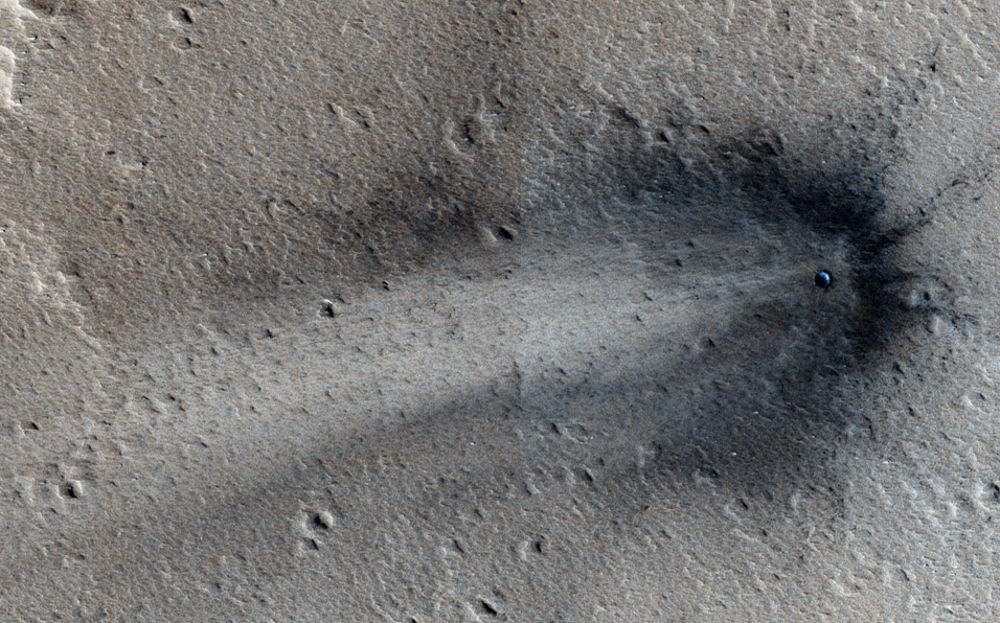 New crater on Mars photo