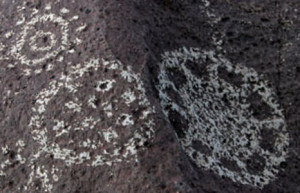 petroglyph mythology folklore sun spots dots circles flowers