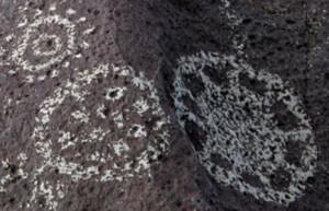 petroglyph mythology folklore sun spots dots circles flowers