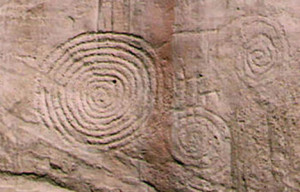 what are petroglyphs circles multiple spirals image rock art