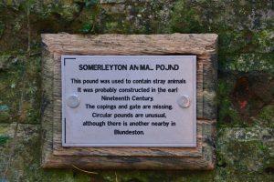 old animal Pounds Somerleyton England