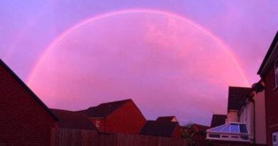 pink rainbow rainbows formation