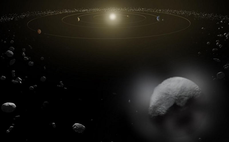 planet earths oceans water wet asteroids