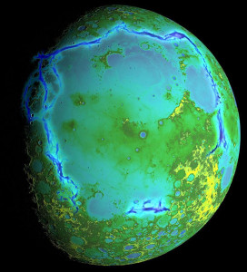 Planetary geomorphology Moons Ocean of Storms