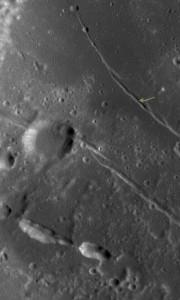 planetary geomorphology moon Oceanus Procellarum rille
