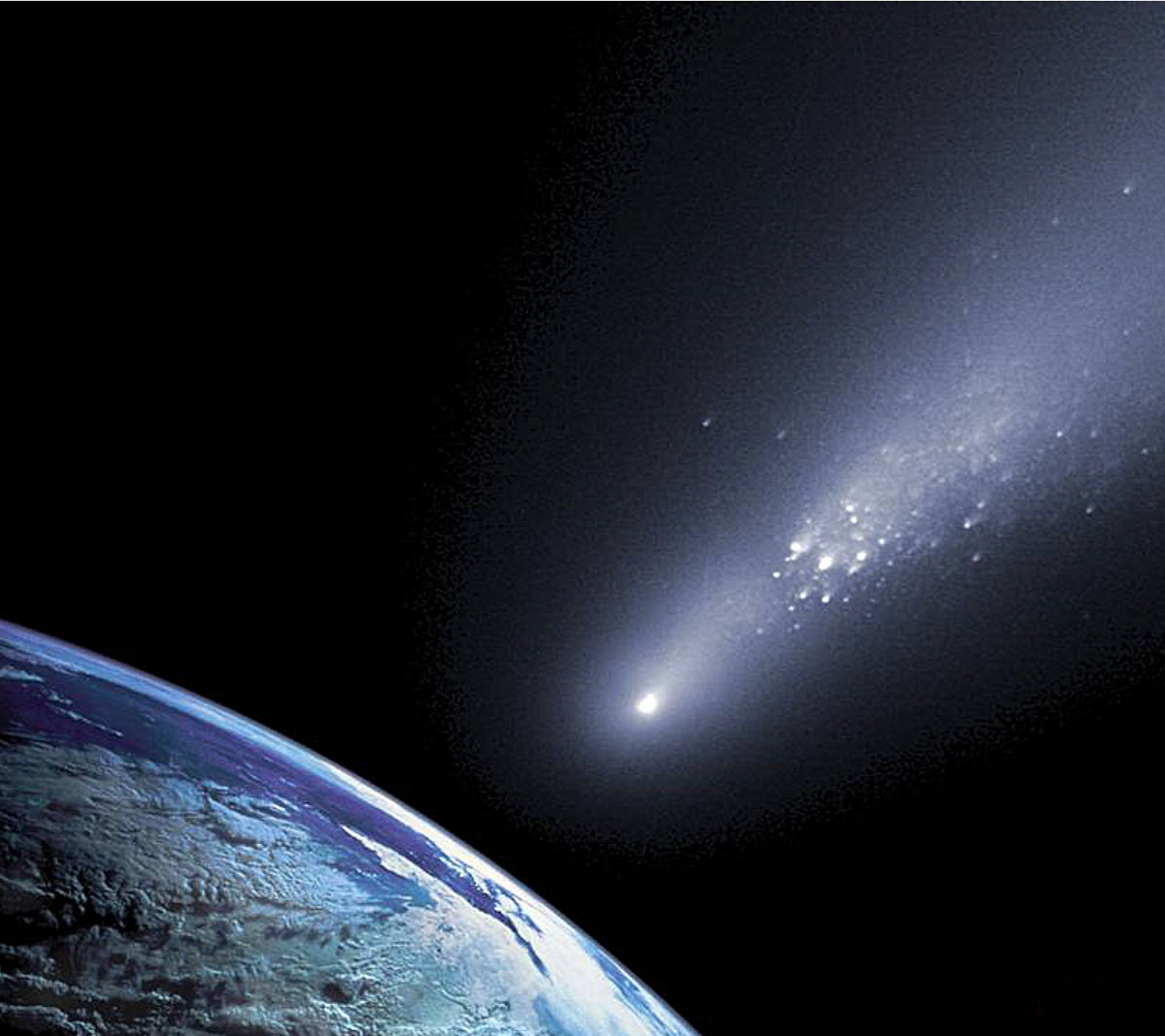 planetesimals meteorites ejected earths primordial atmosphere