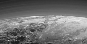 Pluto atmosphere layered structured plasma