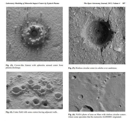C J Ransom Laboratory Modeling of Meteorite Impact Craters by Z-pinch Plasma