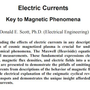 Electric Universe Theory Donald E Scott