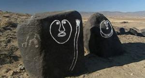 Qiemuerqieke Cemetery, Xinjiang, China Stone man Guardian of the soul