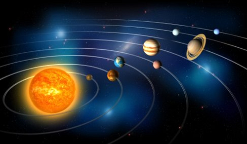 what causes the planets and moons in our solar system to orbit the sun - photo #18