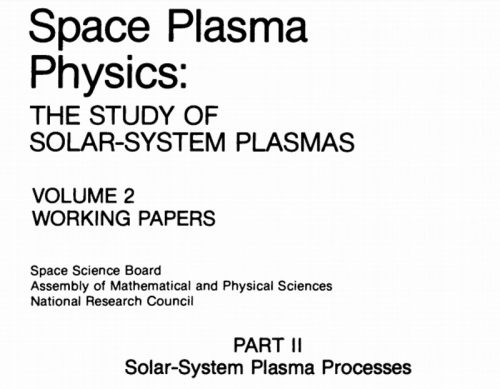 Space Plasma Physics: The Study of Solar-System Plasmas