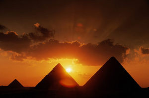 sun reverse egyptian evidence west