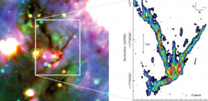 filamentary cloud structures Milky Way