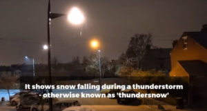 thundersnow lightning storm snow thunder