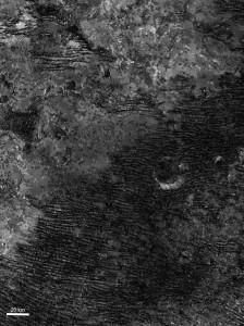 titan ridges dunes dentritic shapes patterns discharge