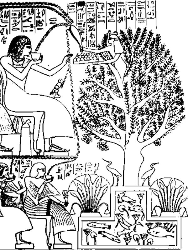 egyptian tree suckling life hathor
