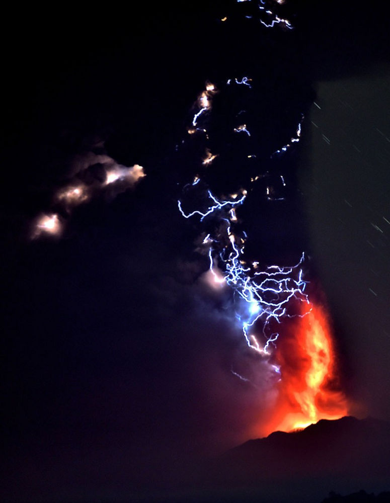 volcano lightning chile volcanoes volcanos