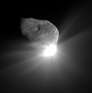 what causes asteroids comets jets